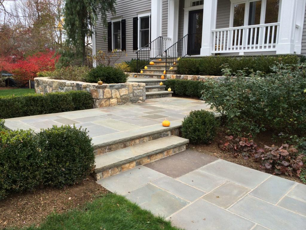 front-yard-landscaping-masonry